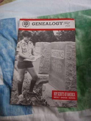Boy Scouts of America Merit Badge Series Book Genealogy