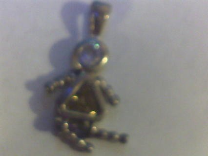 Doll Necklace Pendant, .925