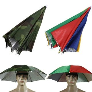 Colorful/Camo Umbrella Hat Cap Sun Shade Camping Hiking Outdoor Parasol Umbrella Hat Cap