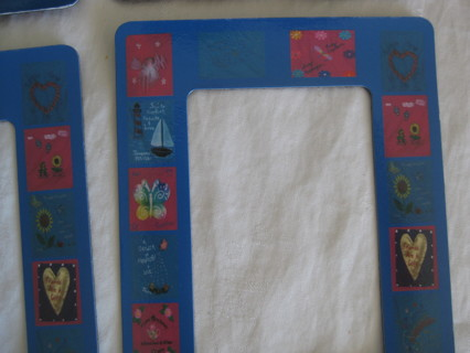 """Magnetic picture frame, 3.5""""x4.5"""", hearts flowers, butterflies, 4 frames"""