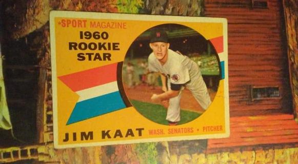 1960 Topps Jim Kaat Rookie Card