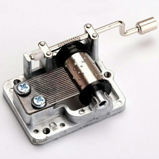 DIY Retro Mechanical Hand Crank Metal Music Box Movement Parts 9 Tunes