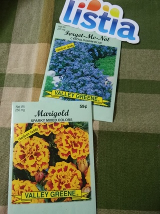 Marigold and Forget-Me-Not seeds*Fresh for 2015