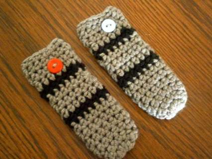 Set 2 New Handmade Crocheted Popsicle Holders Light Sabers, REDUCED