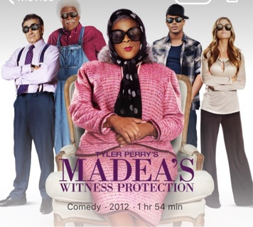 Tyler Perry's Madea's Witness Protection digital Code for iTunes