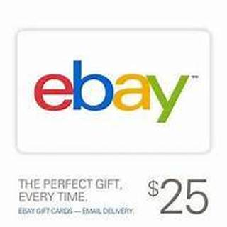 $25 Ebay.com Gift Card