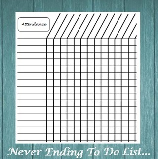 back to school teacher student classroom attendance tracking chart emailed printable