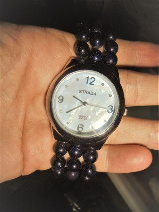 Strada Blue Sandstone Beaded Watch