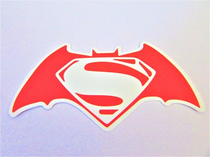 BATMAN VS SUPERMAN Vinyl Sticker- Helmet/Car/Skateboard/Business/Crafts