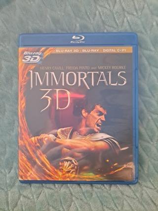 Immortals blu ray 3d (digital is a disc not a code)
