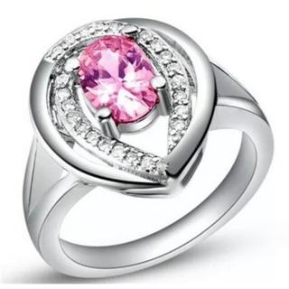 Pink Crystal Rhinestone Ring Size 7
