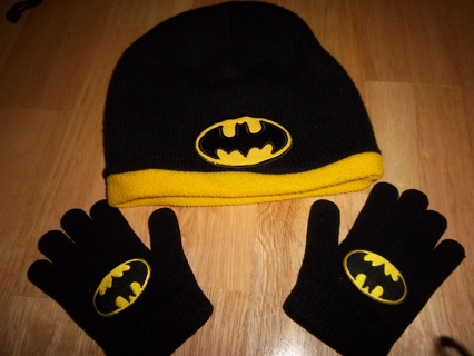 821cf4a3992 Free  Toddler Boys Batman Winter Hat   Gloves - Boys  Clothing ...