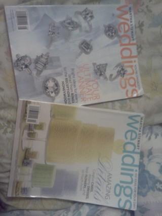 2 Martha Stewart Weddings Magazines