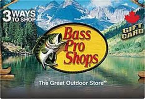 Bass pro shops 10 dollar e-gift card