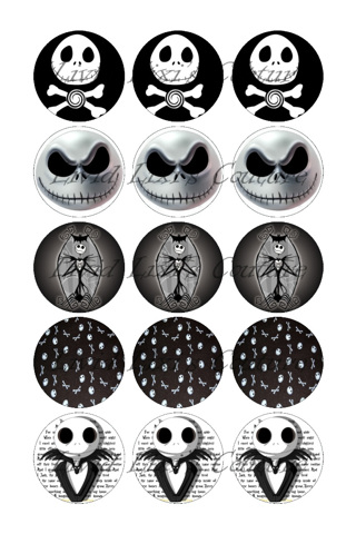 FREE: Nightmare before Christmas Bottlecap Images
