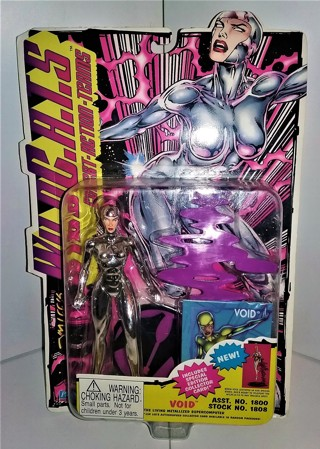 "1995 WILDC.A.T.S VOID action figure - living metallized supercomputer - 5 1/2"" tall  sealed/unopened"