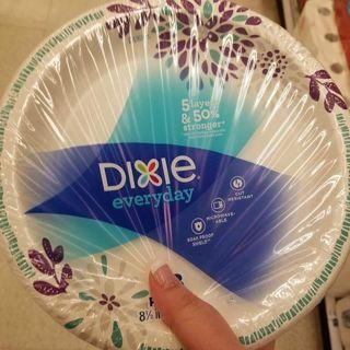 """✔ 100 - 8.5"""" DIXIE PAPER PLATES- READ DESCRIPTION PLEASE ✔"""