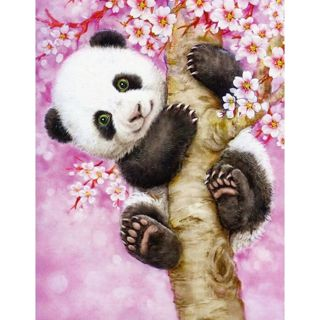 Embroidery 5D DIY Diamond Painting Panda Tree Rhinestones Diamond Painting Embroidery