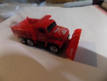 REd Metal Tonka City Fire Department dumptruck & snowplow
