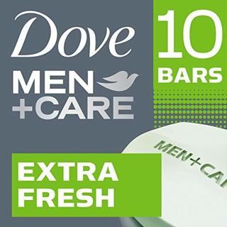 ♨️~ 2 PACKS ~ Dove Men+Care Body and Face Bar Extra Fresh 4 oz, 20 Bars ~♨️
