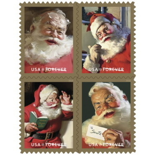 10 -  UNUSED CHRISTMAS   FOREVER STAMPS