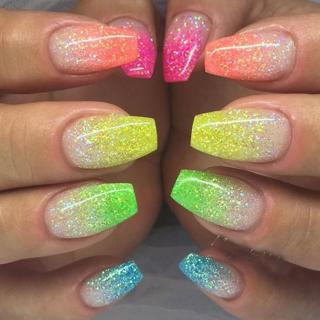1g 6 Color DIY Beauty Glitter Phosphor 3d Glow Nail Art Fluorescent Luminous Neon Powder , for Nai