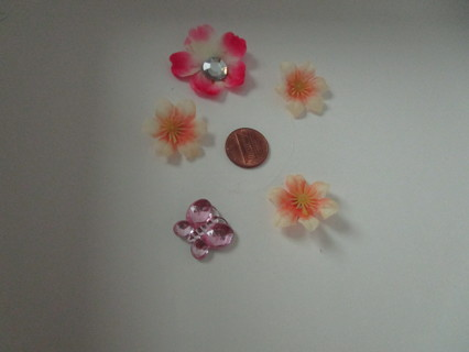 2nd 4 flower& a butterfly magnets