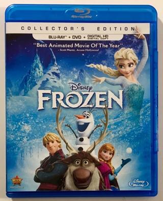 Disney Frozen Collector's Edition Blu-Ray / DVD Combo Movie w/Case + Artwork - Mint Discs