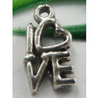 2 New silver Love Charm