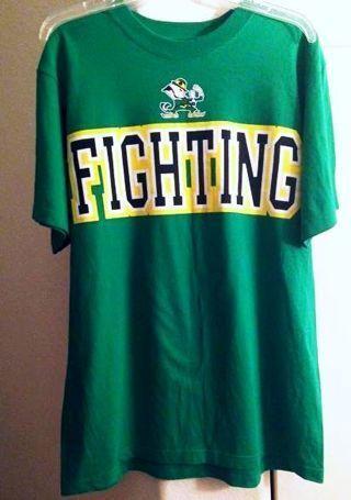 1 Adidas Shirt NOTRE DAME Fighting Irish Tee ADIDAS FREE SHIPPING