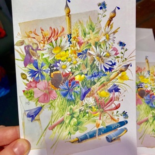 Lot of 4 Brand New Wild Flowers Blank Note Cards