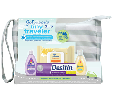 30% DISCOUNT!! Johnson's Tiny Traveler Baby Gift Set, Baby Bath and Skin Care Essential Products,