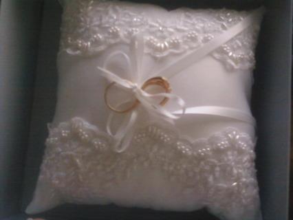 Ring Pillow, NIB- with bonus rings