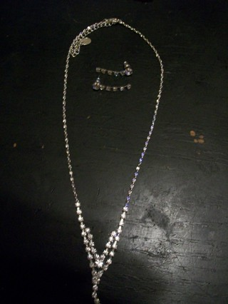 Diamond accent earings and necklace