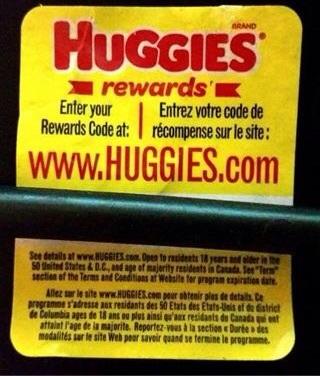 Huggies rewards codes!
