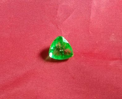 EMERALD NATURAL FROM ZAMBIA HUGE 9.69 CARATS SIZE 14X14X14 MM'S BEAUTIFUL!