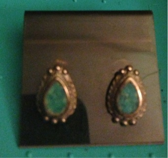 Genuine Turquoise Earrings! Brand New And Amazing Shade