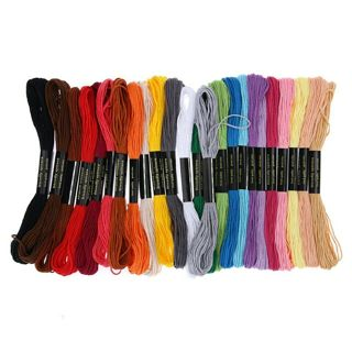 24 Colors Embroidery Thread Hand Floss Sewing Skeins Craft Knitting Cross Stitch Thread Sewing