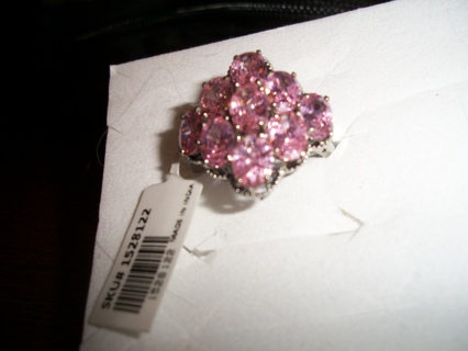 This is for a simulated pink saphire cluster ring