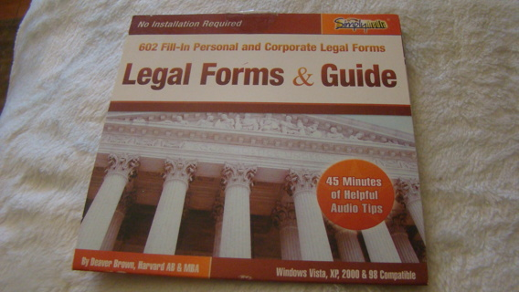 PC Software for legal forms