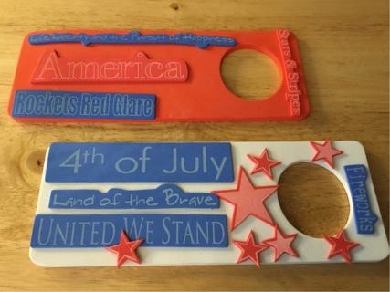 4th of July door hangers
