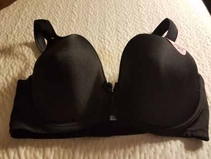 Angelina Soft Plush Push-Up Black Bra Size 44DDD, BNWT, With Extention