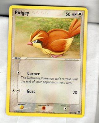 Pokemon Card - Pidgey (73/112)