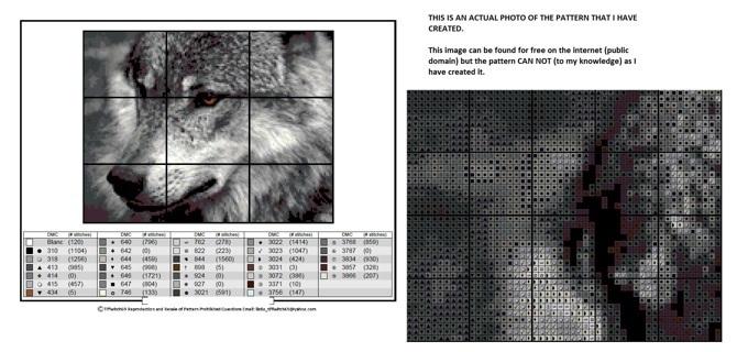 Wolf Cross Stitch Patterns ***WINNERS CHOICE***