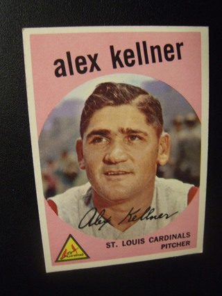 1959 - TOPPS EXMT - NRMT BASEBALL CARD NO. 101 - ALEX KELLNER - CARDINALS