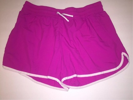 Women's Columbia Pink and White Shorts Sz Large