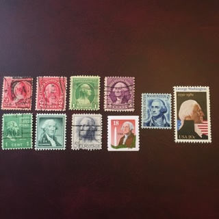 Lot of George Washington stamps