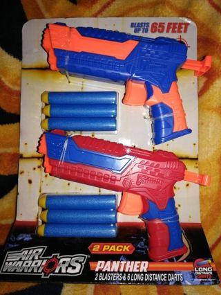 AIR WARRIORS 2 PACK DART GUN SET+FREE GIFT & FREE SHIPPING