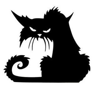 Decal 3D Glass Window Decoration Terror Wall Sticker Decor Halloween Black Cat
