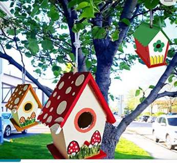 caiyuanggUS  Crafts for Kids 2 Pack DIY Bird House Kit - Birdhouse to Paint and Decorate